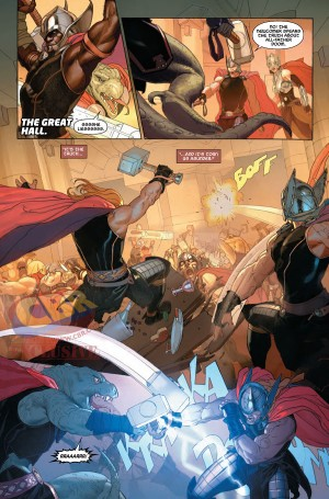 SECRET WARS #7 Thor on Thor on Thor
