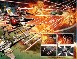 STAR WARS - VADER DOWN double-page spread 2.1-2.2
