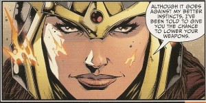 JUSTICE LEAGUE #47 faces - Big Barda