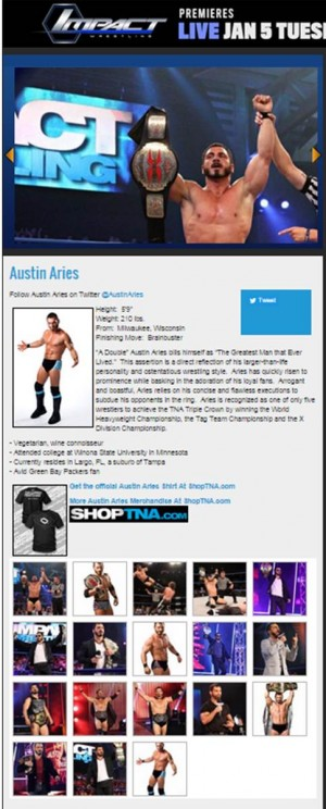 Austin Aries on TNA roster January 29 2016