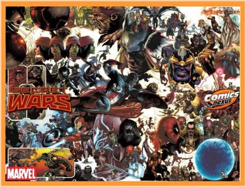 Secret Wars #1 to #9 variant covers by Simone Bianchi interlocking gatefold complete spoilers