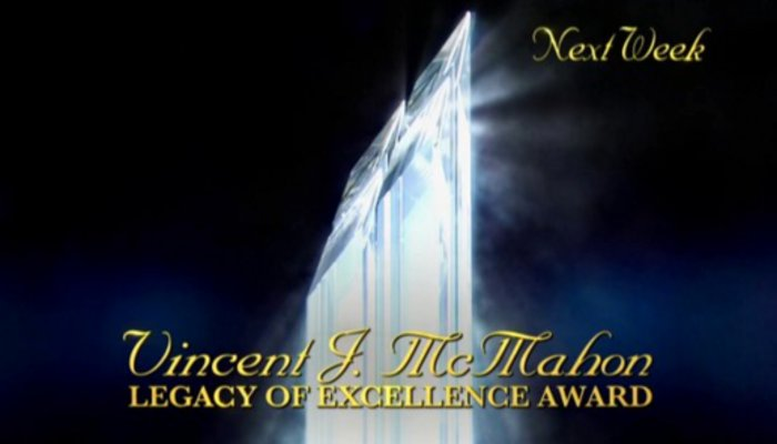 Vincent J. McMahon Legacy of Excellence Award