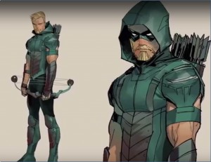 C. Green Arrow Rebirth color concept art