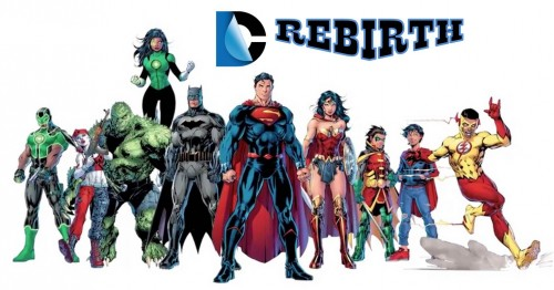 DC Comics Rebirth banner