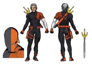 Deathstroke Rebirth character concept art 2