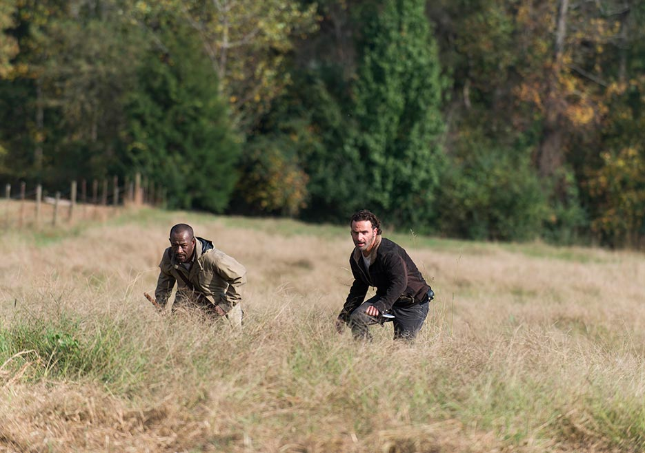 Morgan and Rick playing in the grass.