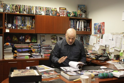 Dan Didio Buzzfeed office pic 2