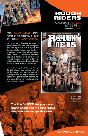 Rough Riders bio from AfterShock Comics