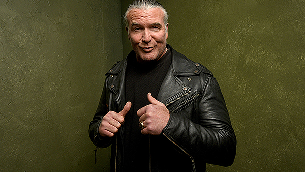 """PARK CITY, UT - JANUARY 23:  Wrestler Scott Hall from """"The Resurrection of Jake The Snake Roberts"""" poses for a portrait at the Village at the Lift Presented by McDonald's McCafe during the 2015 Sundance Film Festival on January 23, 2015 in Park City, Utah.  (Photo by Larry Busacca/Getty Images)"""