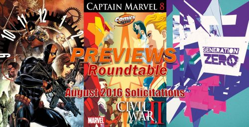 Previews Roundtable Comics August 2016