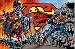 The Death and Return of Superman Omnibus gatefold cover art