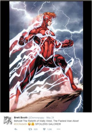 Wally West DC Rebirth Titans full costume