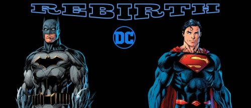 DC Rebirth Batman Superman banner black logo