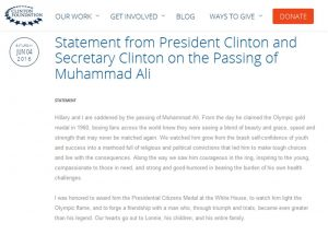 Former President Clinton responds to Muhammad Ali's Death 1