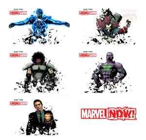 New Marvel Now 2016 teasers flipped collage