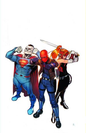 Red Hood and the Outlaws Bizarro Artemis variant cover