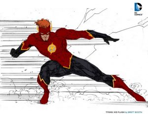 Wally West Flash DC Rebirth concept art teaser 1