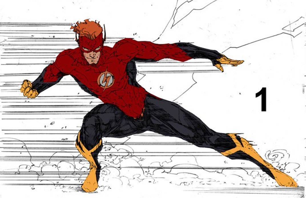 Dc Comics Rebirth Spoilers Dc Rebirth S Red Black Gold Wally West S The Flash S Costumes Where Is Brett Booth S Female Blue Flash Inside Pulse