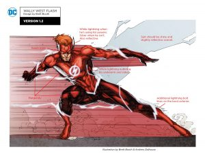 Wally West The Flash Titans concept art teaser 2