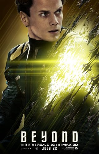 Anton Yelchin as Pavel Chekov in Star Trek Beyond