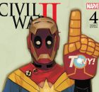 Civil War II #4 banner with deadpool final