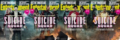 EW 4 Suicide Squad Movie Covers