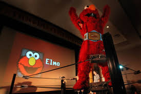 Elmo Wrestler Champion