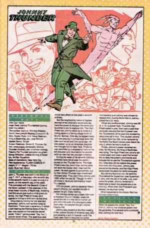 Johnny Thunderbolt of the JSA Who's Who in DC Comics