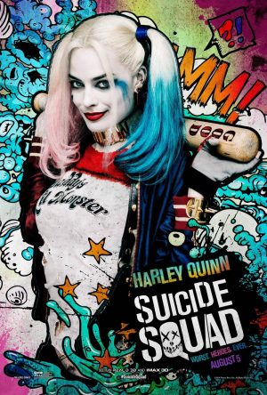 Margot Robbie as Harley Quinn in Suicide Squad movie poster