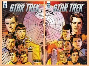 Star Trek #59 and #60 Alternate Encounters covers