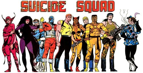 Suicide Squad classic 1980s banner