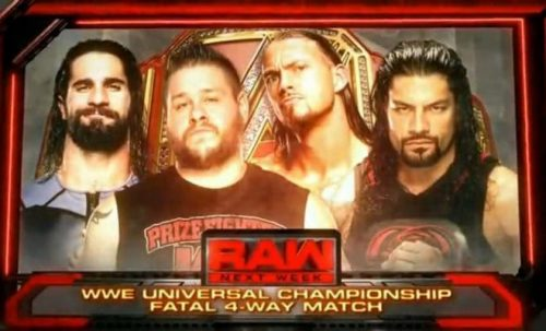 Fatal 4-way for the WWE Universal Championship August 29 2016