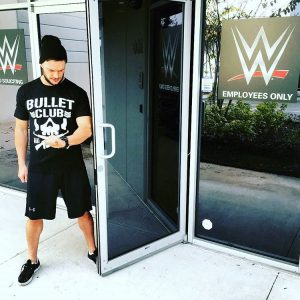 Finn Balor waiting for Luke Gallows and Karl Anderson after WWE signed them NJPW Bullet Club WWE The Club and Balor Club