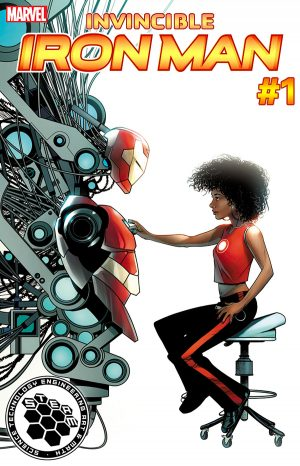 Invincible Iron Man #1 variant Marvel Now 2016 Riri Williams is Ironheart Marvel Comics