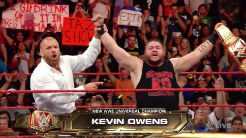 Kevin Owens as WWE Universal Champion