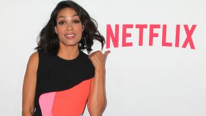 "LOS ANGELES, CA - APRIL 02:  Actress Rosario Dawson attends the premiere of Netflix's ""Marvel's Daredevil"" at Regal Cinemas L.A. Live on April 2, 2015 in Los Angeles, California.  (Photo by David Buchan/Getty Images)"