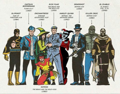 Suicide Squad movie characters first appearances in DC Comics