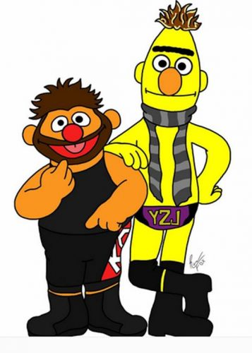 WWE Raw Chris Jericho & Kevin Owens as Sesame Street Bert & Ernie