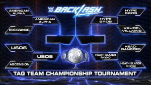 WWE Smackdown Tag Team Championship brackets for WWE Backlash 2016 2