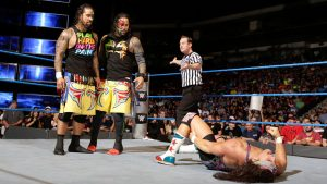 Chad Gable injured by USOS on Smackdown live