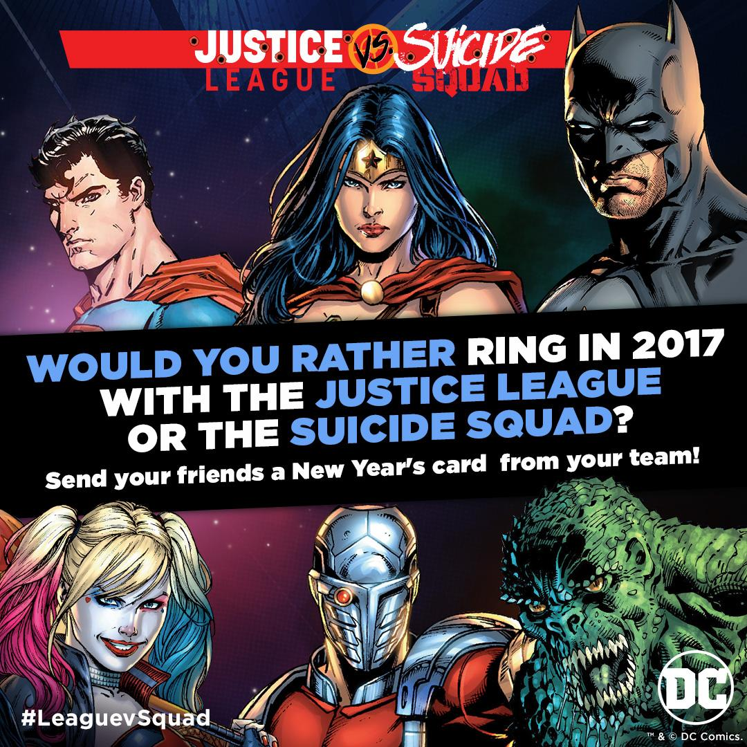 Merry Christmas From DC Comics With Justice League Vs. Suicide Squad ...