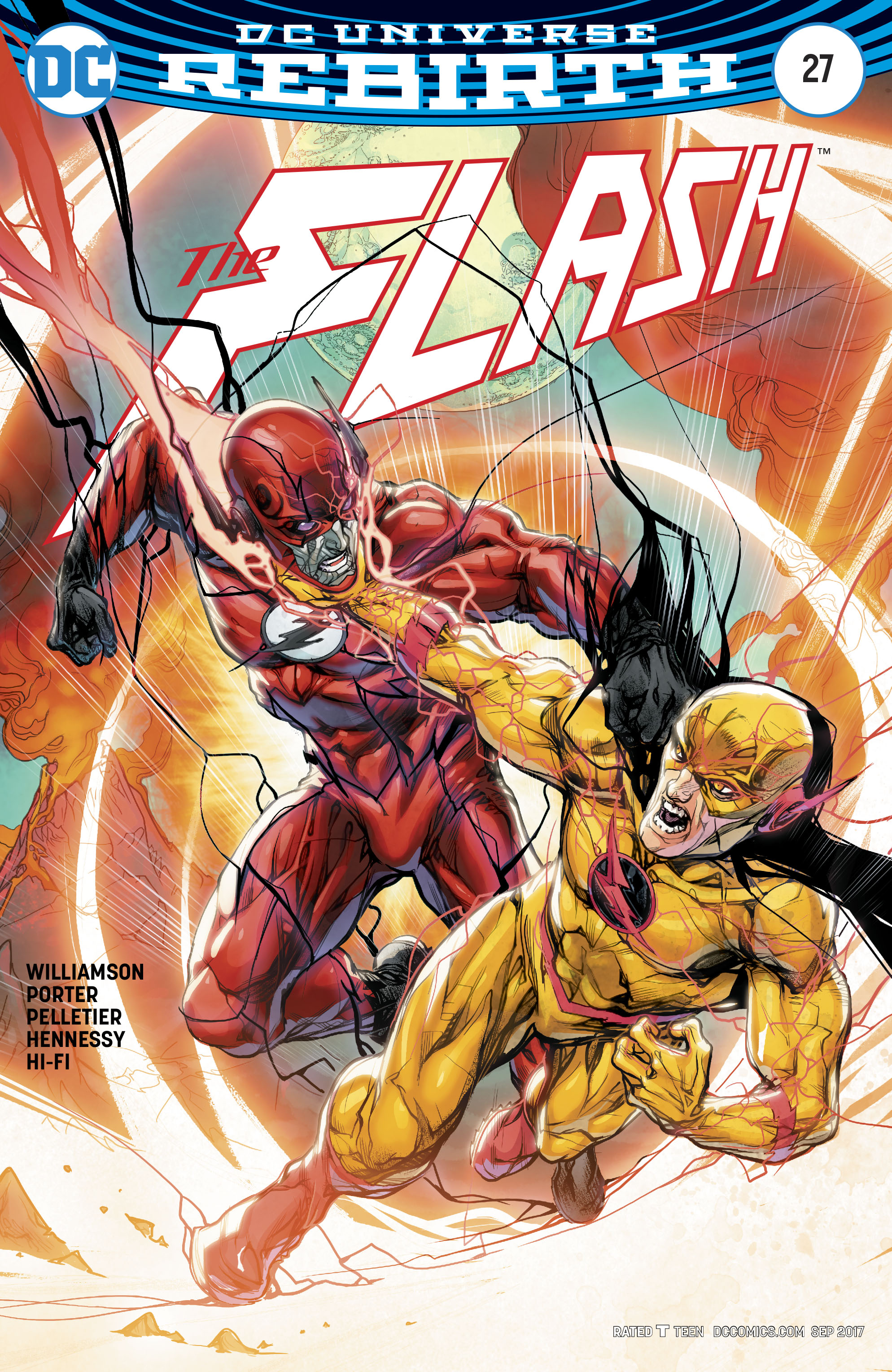 Dc Comics Rebirth Spoilers The Flash 27 Literally Has Everything Change With Iris Allen Wally West Kid Flash Eobard Thawne Reverse Flash Inside Pulse