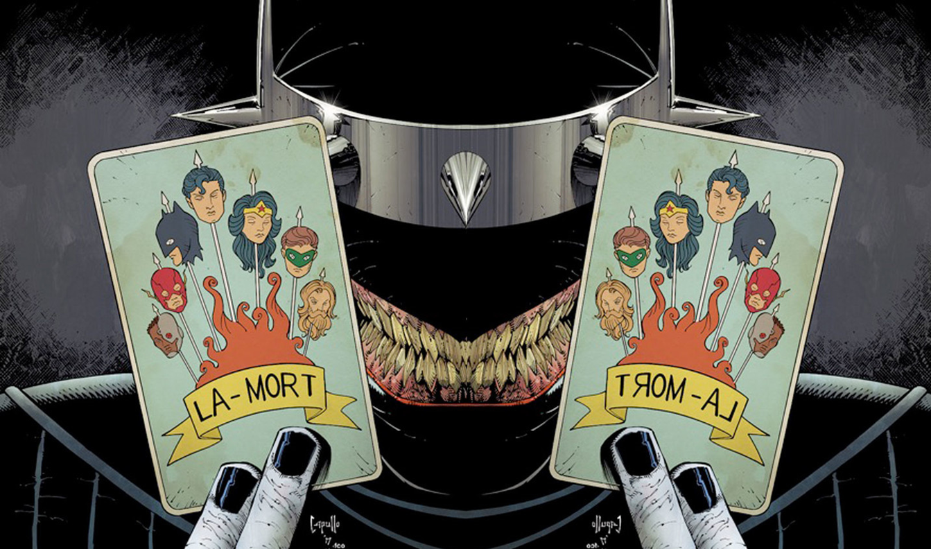 DC Comics Rebirth & Dark Nights Metal Spoilers: Final 4 Of 7 One-Shot Final Covers With Dark Night Metal's Dark Knights / Bats Out Of Hell Revealed! Batman Who Laughs & Evil Robins!   Inside Pulse
