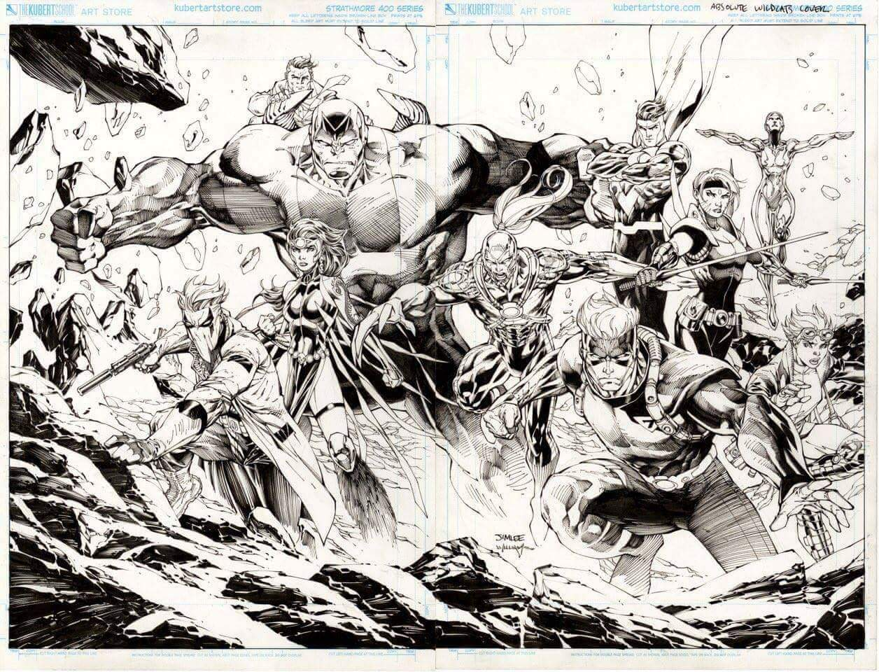 Fan expo 2017 dc comics spoilers absolute wildcats art by jim lee revealed