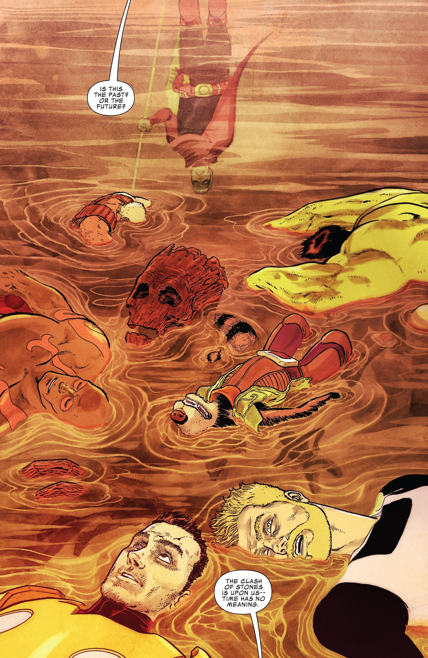 Adam Warlock seemingly wakens somewhere, somewhen and his frustrated and…