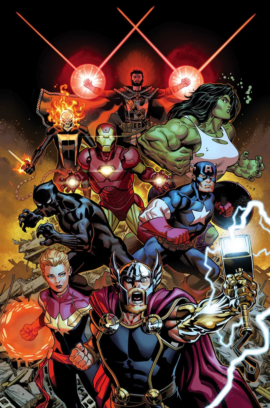Marvel comics may 2018 solicitations spoilers first 2 avengers issues 5 covers so far - Heros avengers ...