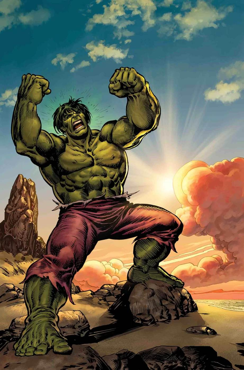 It is a graphic of Amazing A Picture of the Hulk
