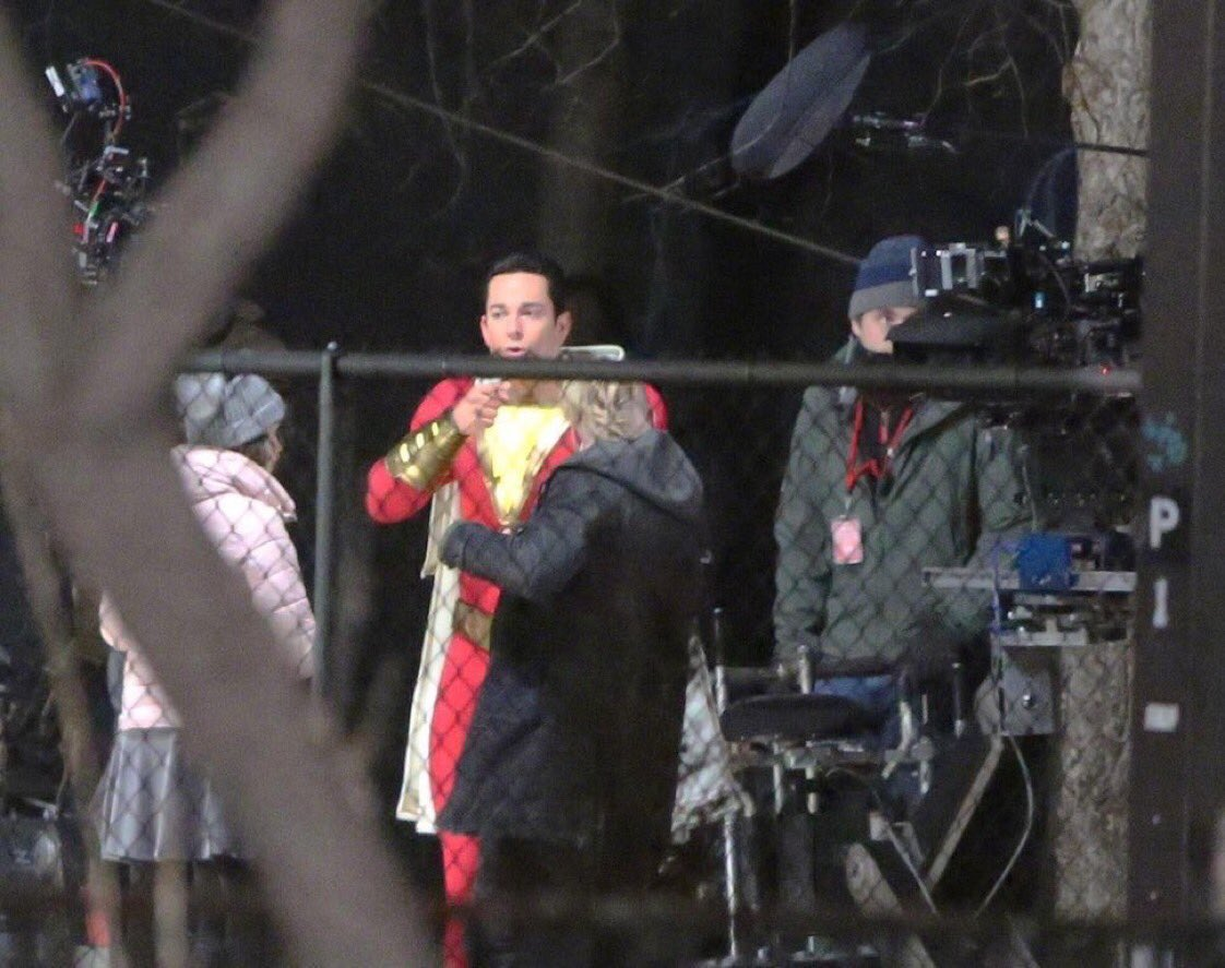 Captain Marvel Shazam Movie Spoilers 10 On Set Pictures Leak Including Heros Costume Sivana