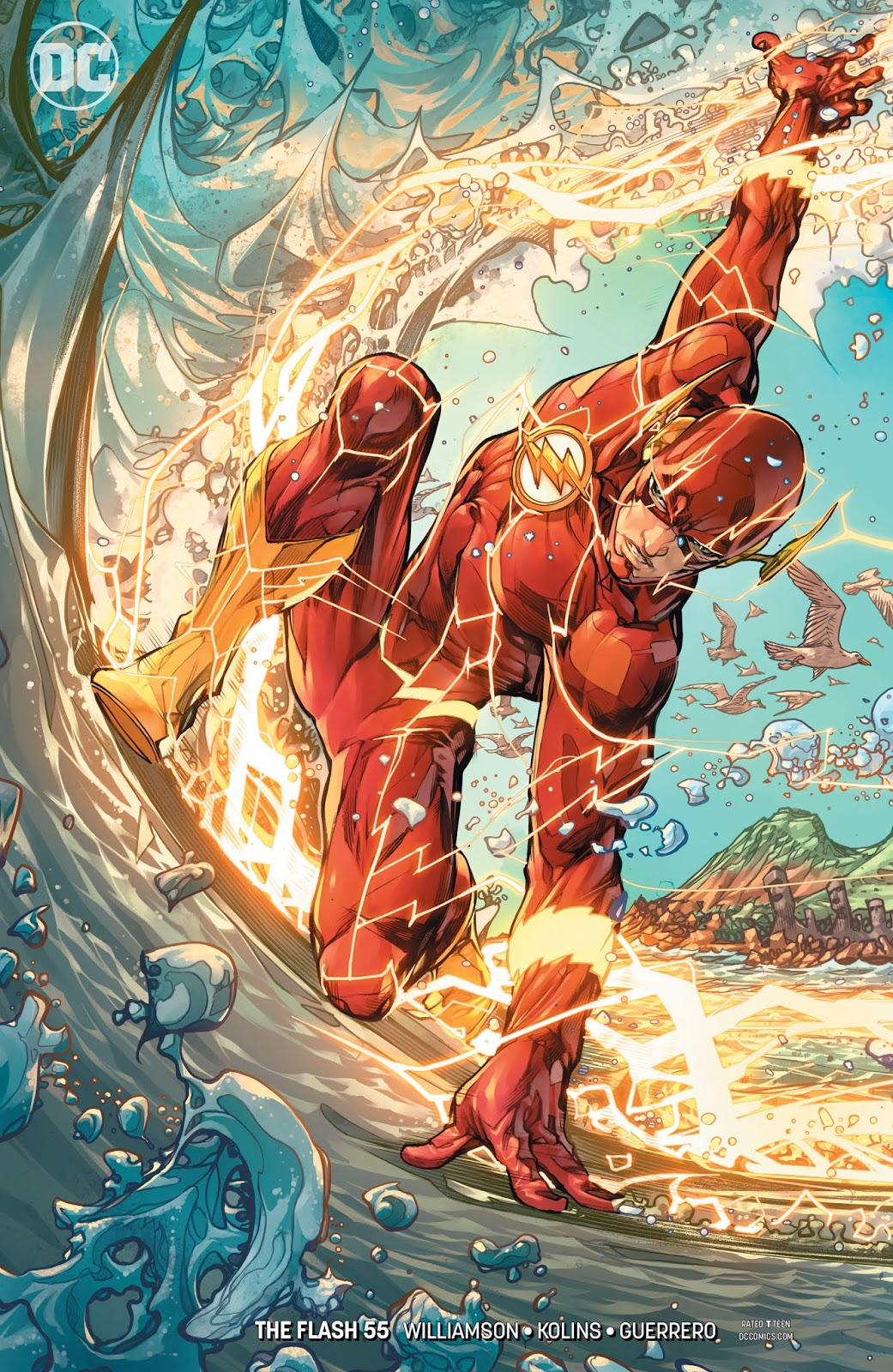 It is a graphic of Current Pictures of the Flash Superhero