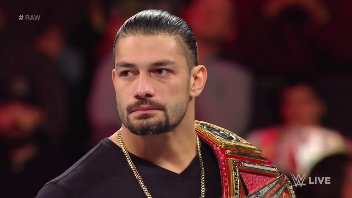 breaking news roman reigns relinquishes wwe universal championship on raw due to leukemia. Black Bedroom Furniture Sets. Home Design Ideas